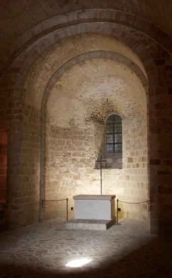 Chapelle saint Martin, XIe siècle, Mont-Saint-Michel.