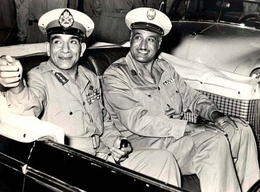 Mohamed Naguib et Gamal Abd el-Nasser