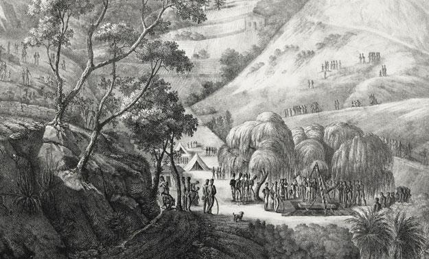 Vue de la vallée du géranium (estampe de Louis Marchand, Fondation Thiers)
