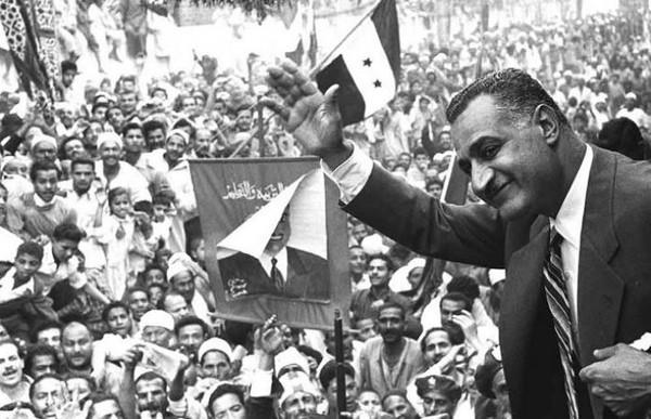Gamal Abdel Nasser a Mansoura, en 1960 (15 janvier 1918 - 28 septembre 1970)