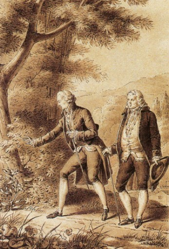 Charles Chasselat, Jean-Jacques Rousseau herborisant, 1817, Montmorency, musée Jean-Jacques Rousseau