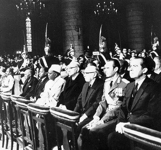 Hommage des dirigeants de la planète à Charles de Gaulle, novembre 1970, Notre-Dame de Paris (DR)
