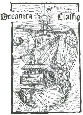 La nef de Christophe Colomb, d'après une gravure sur bois accompagnant une édition latine de la Lettre de Christophe Colomb (1493)