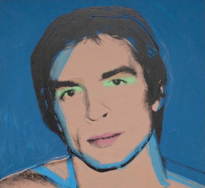 « Portrait de Rudolf Noureev », Andy Warhol 1975.