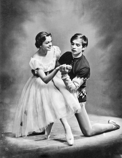 Rudolf Noureev et Irina Kolpakova dans « Giselle », 1959.