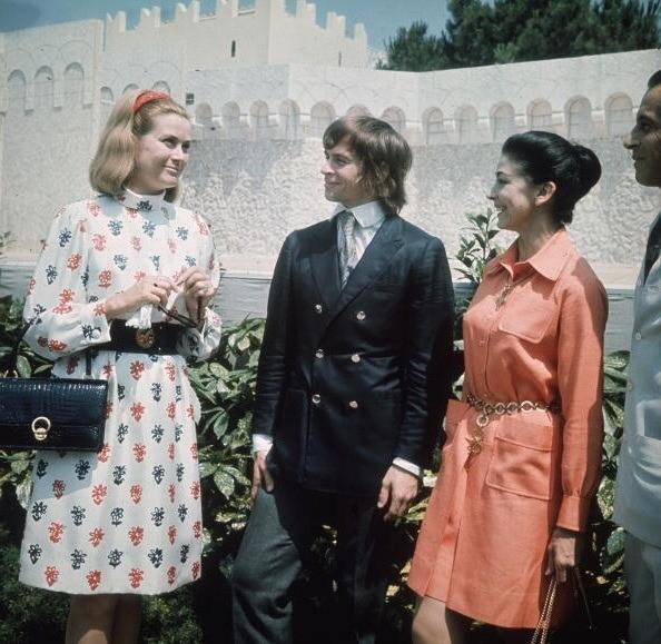 La princesse Grâce invite Margot Fonteyn et Rudolf Noureev à Monaco en 1968.