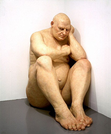 Ron Mueck, Untitled (Big man), 2000, Washington, Hirshhorn Museum and Sculpture Garden