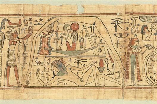 papyrus mythologique de neskapashouty vers 1000 av j c paris mus e du louvre. Black Bedroom Furniture Sets. Home Design Ideas