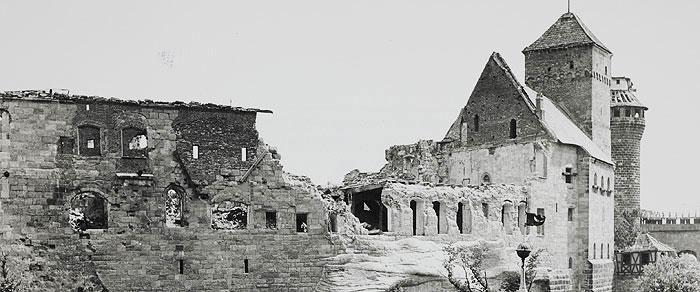 Le château de Nuremberg après la Seconde Guerre mondiale