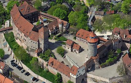 Le château de Nuremberg aujourd'hui (DR)