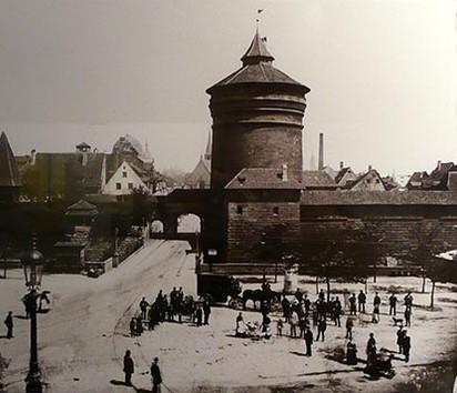 Les murailles de Nuremberg en 1885