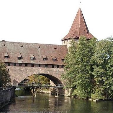 La rivière ¨Pegnitz à Nuremberg (DR)