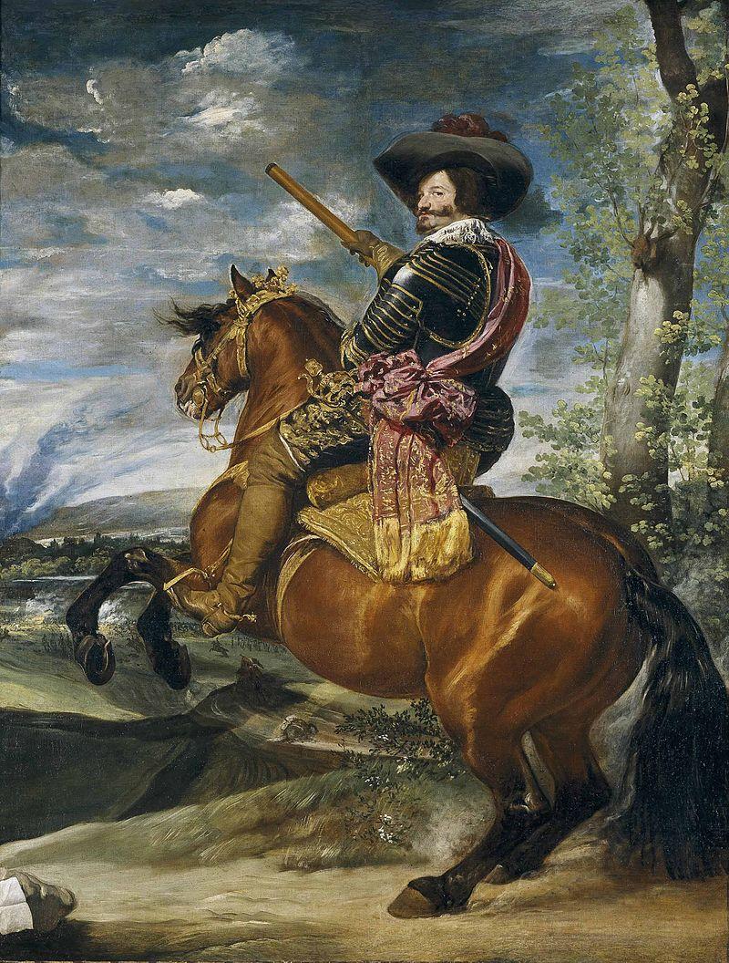 Le comte-duc d'Olivares à cheval, 1635 (Vélasquez, musée du Prado, Madrid)