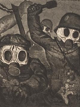 Assaut sous le gaz (Otto Dix, 1924)