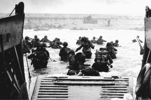 Scène de débarquement le 6 juin 1944 (Overlord)