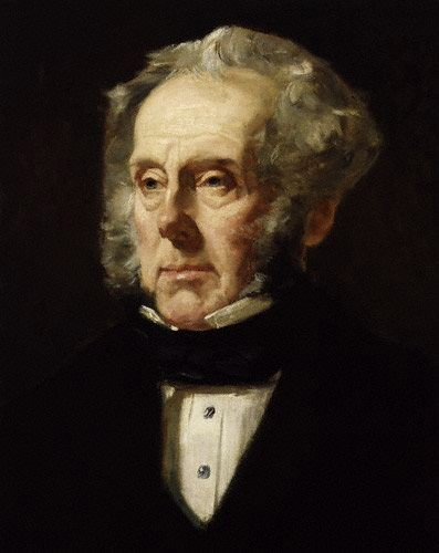 Henry John Temple, Lord Palmerston, portrait by Francis Cruikshank, c. 1855