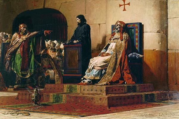 Le Pape Formose et Etienne VI - Concile cadavérique de 897, Jean-Paul Laurens, 1870, musée des Beaux-Arts, Nantes.