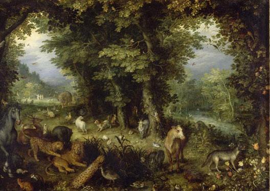 La Terre ou Le Paradis terrestre (Jan I Brueghel de Velours ou l'Ancien, 1607-1608, musée du Louvre, Paris)