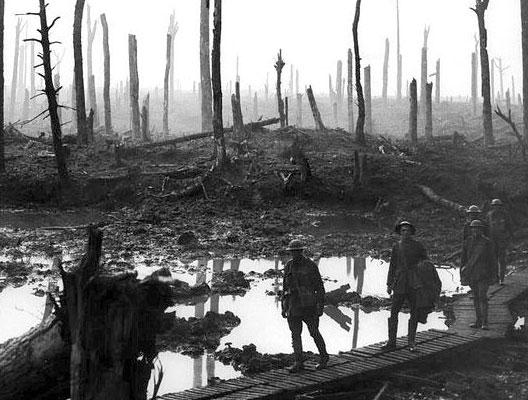 31 juillet 1917 : La bataille de Passchendaele . Passendale