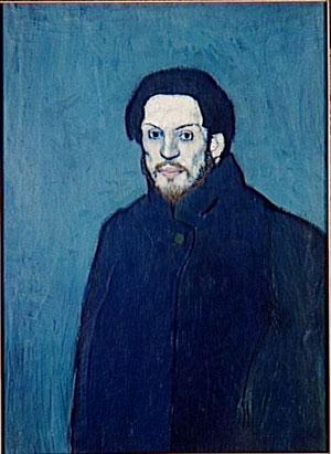 Pablo Picasso, Autoportrait, 1901, musée national Picasso, Paris (DR)