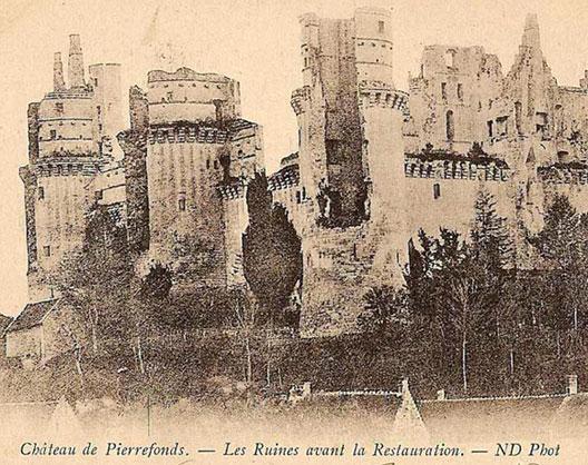 Le Chateau De Pierrefonds Oise Avant Sa Restauration Par Eugene Viollet