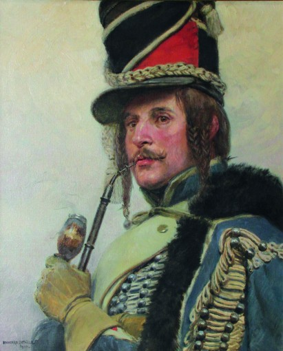 Edouard Detaille, Hussard fumant la pipe, 1910, Tarbes, musée Massey