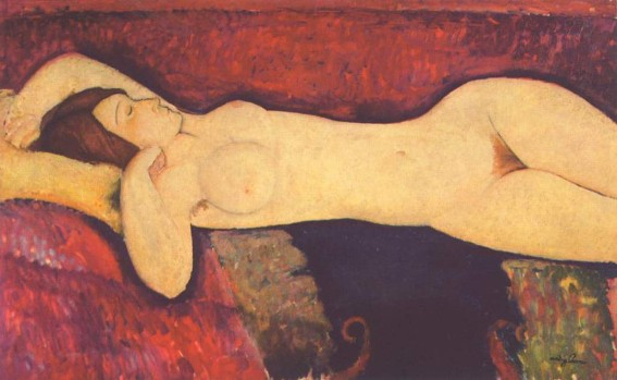 Amedeo Modigliani, Le Grand Nu,  vers 1919, New York, Museum of Modern Art