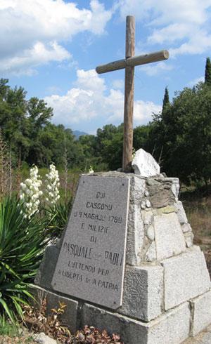Monument commémoratif de la bataille de Pontenovo (photo : André Larané, Herodote.net, 2014)