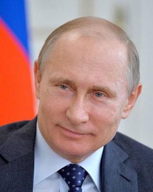 Vladimir Poutine, président de la République de Russie