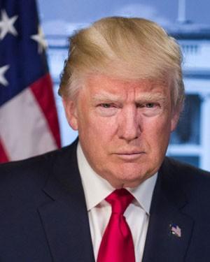 Portrait officiel de Donald Trump, président des États-Unis
