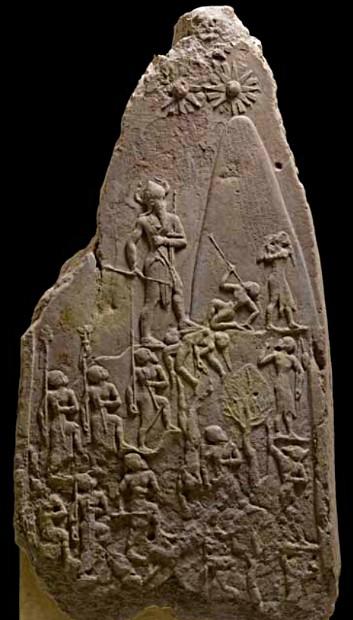 Stèle de victoire de Naram-Sin, roi d'Akkad, vers 2250 av. J.-C., Paris, musée du Louvre.