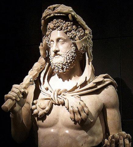 Buste de Commode en Hercule, vers 180 ap. J.-C., musée du Capitole, Rome.