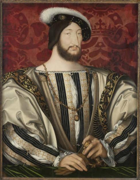 Portrait de François Ier, roi de France, François Clouet, 1530, musée du Louvre, Paris.