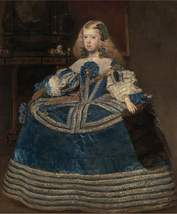 L'Infante Marguerite en robe bleue, Diego Vélasquez, 1659, Kunsthistorisches Museum, Vienne.