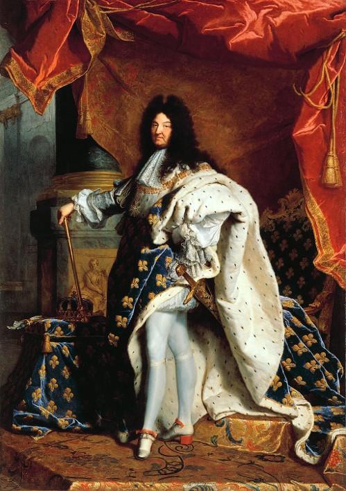 Louis XIV, Hyacinthe Rigaud, 1701-1702, musée du Louvre, Paris.