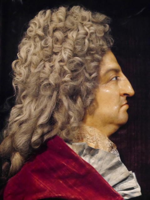 Antoine Benoist, Portrait en cire de Louis XIV, château de Versailles.