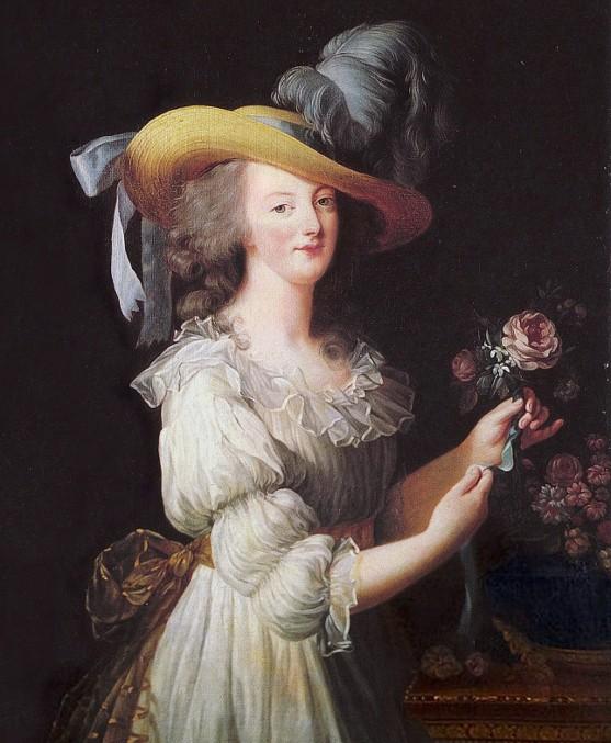 Marie-Antoinette en gaulle, Élisabeth Vigée-Lebrun, 1783, Kronberg, Hessische Hausstiftung.