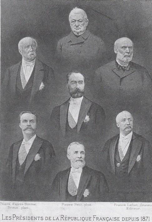 Franck Lefort, Les Présidents de la République depuis 1871, carte postale.