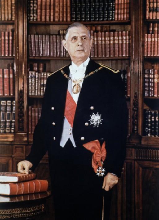 Portrait officiel de M. Charles de Gaulle, président de la République française, Jean-Marie Marcel, 1959.