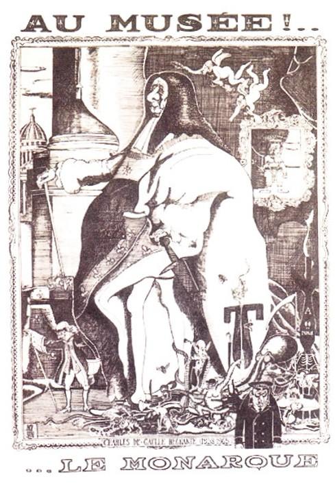 Lefel, Caricature de Charles de Gaulle publiée dans Le Canard enchaîné, 1963.