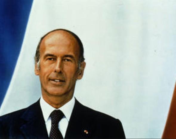 Portrait officiel de M. Valéry Giscard d'Estaing, président de la République française, Jacques-Henry Lartigue, 1981.