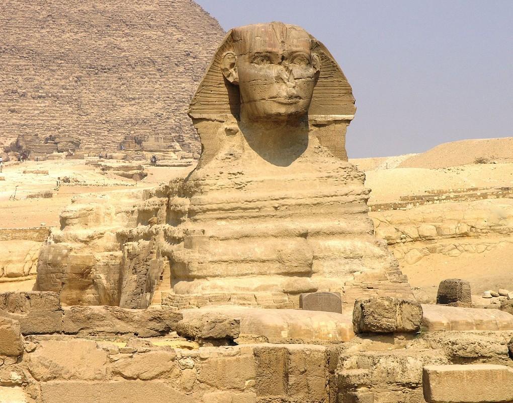 Le sphinx de Guizèh, Basse-Égypte.