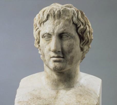 Portrait d'Alexandre le Grand, d'après Lysippe, IVe siècle av. J.-C., musée du Louvre, Paris.