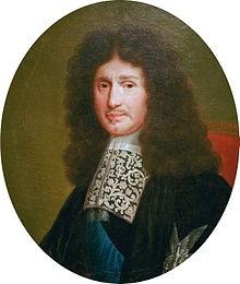 Portrait de Jean-Baptiste Colbert peint d'après une gravure réalisée par Robert Nateuil en 1676.