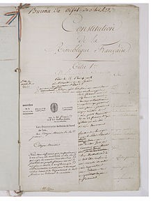 Constitution du 22 frimaire an VIII (13 décembre 1799) – Archives Nationales - AE-I-29-4