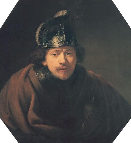 Rembrandt van Rijn, Autoportrait au casque, 1634, Kassel, Staatliche Museen Kassel.