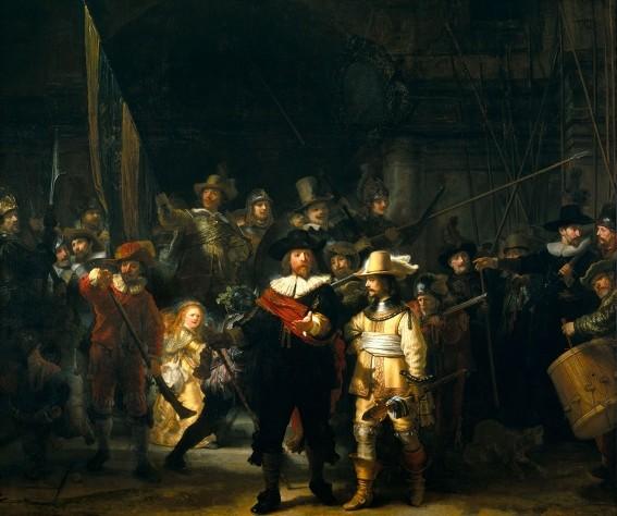 Rembrandt van Rijn, La Ronde de nuit, 1642, Rijkmuseum, Amsterdam.