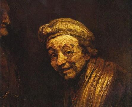 Rembrandt van Rijn, Autoportrait en Zeuxis, vers 1668, Wallraf-Richartz Museum, Cologne.