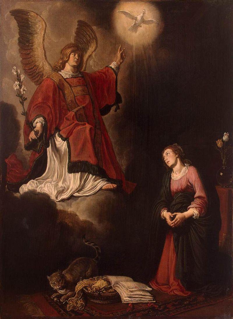 Pieter Lastman, l'Annonciation, 1618, musée de l'Ermitage, Saint-Pétersbourg.
