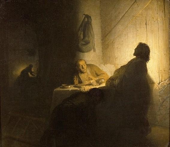 Rembrandt van Rijn, Les Pèlerins d'Emmaüs, 1628, Paris, musée Jacquemart-André, Paris.
